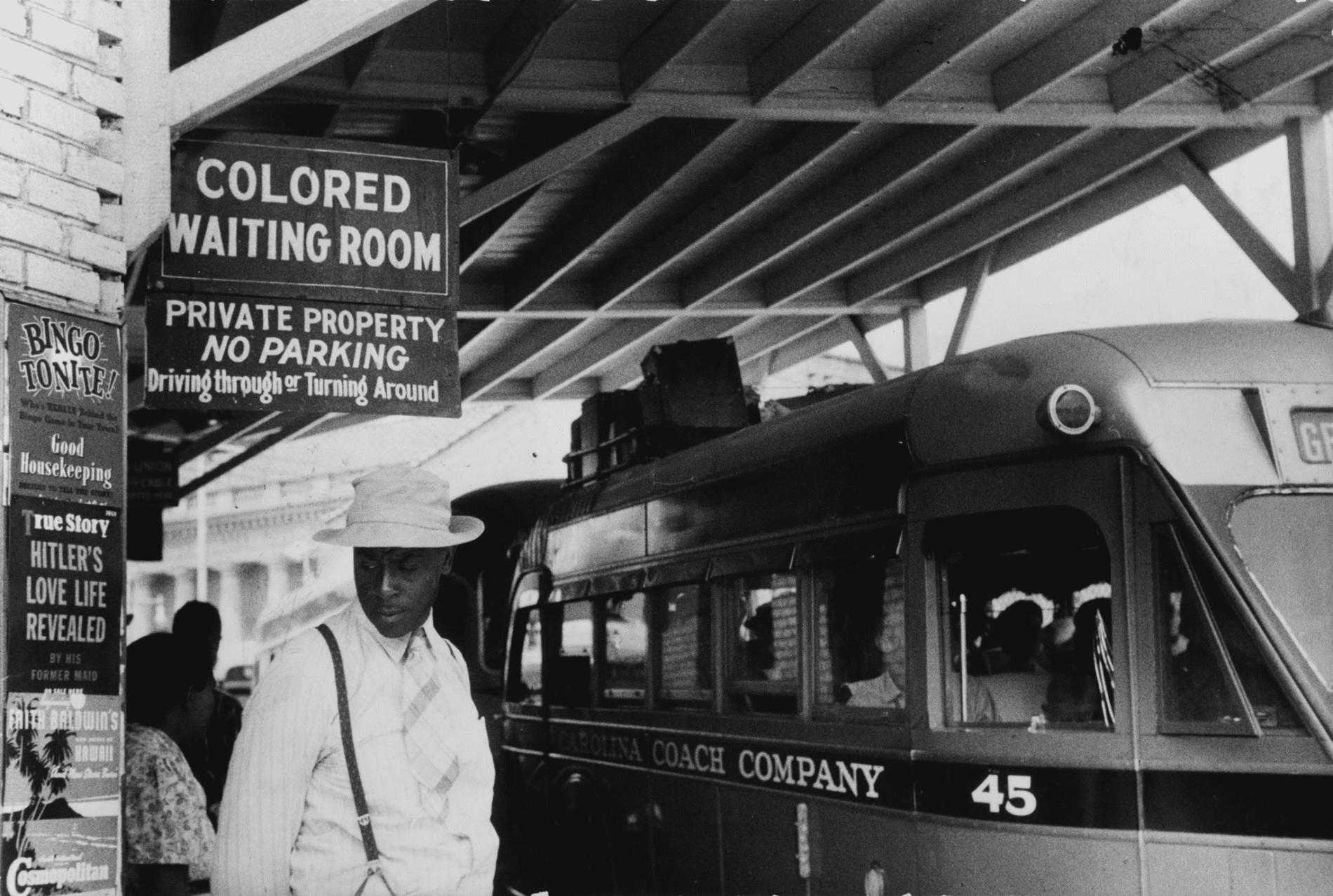 Табличка «зала очікування для кольорових», час дії законів Джима Кроу